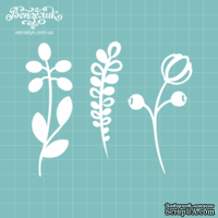 Чипборд от Вензелик - Набор флора 09, размер: высота 8,1-9,1 см
