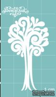 Чипборд от Вензелик - Дерево 04, размер: 29x53 мм