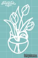 Чипборд от Вензелик - Тюльпаны 02, размер: 48x76 мм