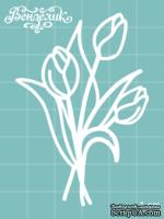 Чипборд от Вензелик - Тюльпаны 03, размер: 48x70 мм