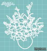 Чипборд от Вензелик - Ваза с цветами 02, размер: 86x101 мм