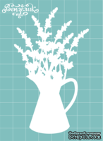 Чипборд от Вензелик - Ваза с цветами 03, размер: 58x98 мм