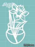 Чипборд от Вензелик - Ваза с цветами 06, размер: 39x69 мм