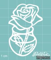 Чипборд от Вензелик - Ваза с цветами 07, размер: 40x61 мм
