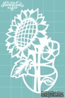 Чипборд от Вензелик - Ваза с цветами 08, размер: 50x78 мм