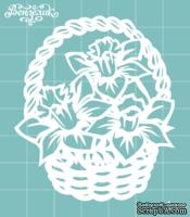 Чипборд от Вензелик - Корзина с цветами, размер: 59x68 мм
