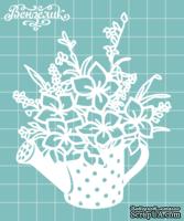 Чипборд от Вензелик - Поливалка с цветами 03, размер: 86x106 мм