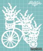 Чипборд от Вензелик - Велосипед с цветами 06, размер: 103x116 мм