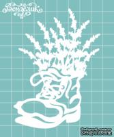 Чипборд от Вензелик - Сапожок с цветами, размер: 76x105 мм