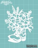 Чипборд от Вензелик - Сапожок с цветами 03, размер: 66x77 мм
