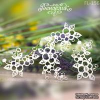 Чипборд от Вензелик - Набор флоры 26, размер: 125x98 мм