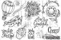 Набор акриловых штампов от Flourishes - Lots of Thoughts