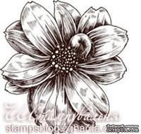 Акриловый штамп FL001a Цветок, размер 4,2 * 4,3 см