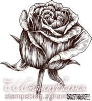 Акриловый штамп FL004a Роза, размер 2,7 * 3 см