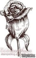 Акриловый штамп FL005a Роза, размер 2,6 * 4,4 см