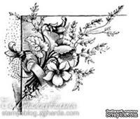 Акриловый штамп FL007 Цветы, размер 6,7 * 6,1 см