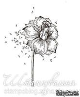 Акриловый штамп FL014 Цветок, размер 3,5 * 4,2 см