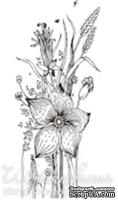 Акриловый штамп FL017 Полевые цветы, размер 3,2 * 6,6 см