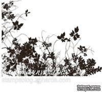 Акриловый штамп FL018 Цветы, размер 6,1 * 4,1 см
