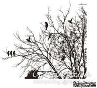 Акриловый штамп FL019 Дерево, размер 6,1 * 4,8 см