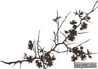 Акриловый штамп FL023 Ветви дерева, размер 3,8 * 2,7 см