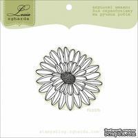 Акриловый штамп Lesia Zgharda FL037b Цветок большой - контур, размер 4,8x4,6 см