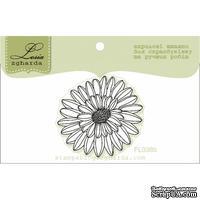 Акриловый штамп Lesia Zgharda FL038b Цветок маленький - контур, размер 3,5x3,8 см