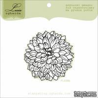 Акриловый штамп Lesia Zgharda FL039b Цветок большой контур, размер 5x5 см
