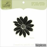 Акриловый штамп Lesia Zgharda FL041a Цветок большой, размер 4,4x4,5 см