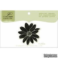 Акриловый штамп Lesia Zgharda FL042a Цветок маленький, размер 3,1x3,2 см
