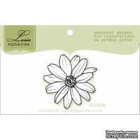 Акриловый штамп Lesia Zgharda FL042b Цветок маленький - контур, размер 3,1x3,2 см