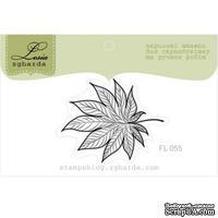 Акриловый штамп Lesia Zgharda FL055 Осенний листочек, размер 3,2x3,2 см