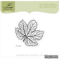 Акриловый штамп Lesia Zgharda FL059 Осенний листочек, размер 4,8x4,5 см