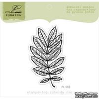 Акриловый штамп Lesia Zgharda FL061 Листок акации, размер 3,4x6,1 см