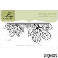 Акриловый штамп Lesia Zgharda FL063 Лиственный баннер маленький, размер 7x3 см