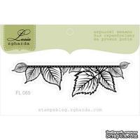 Акриловый штамп Lesia Zgharda FL065 Лиственный баннер маленький, размер 7x2,1 см