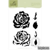Набор акриловых штампов Lesia Zgharda FL069 Роза с лепестками, 6 шт