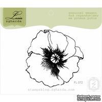 Акриловый штамп Lesia Zgharda FL072 Головка мака, размер 5,7x5,7 см