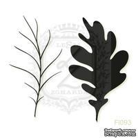 Акриловый штамп Lesia Zgharda FL093 Дубовый листок, набор из 2 штампов