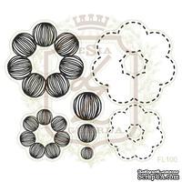 Набор акриловых штампов Lesia Zgharda FL100 Цветы с контурами