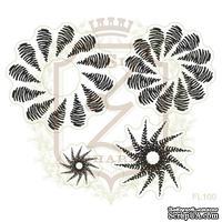 Набор акриловых штампов Lesia Zgharda FL101 Цветы с сердечками