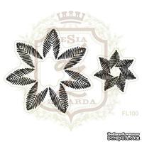 Набор акриловых штампов Lesia Zgharda FL105 Вышитые цветы