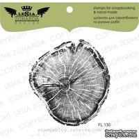 Акриловый штамп Lesia Zgharda FL130 Срез дерева больший, размер 5,9х6,2 см