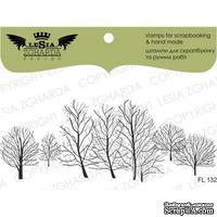 Акриловый штамп Lesia Zgharda FL132 Зимние деревья, размер 9,9х3,8 см