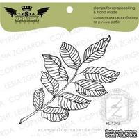 Акриловый штамп Lesia Zgharda FL134a Веточка с листьями большая