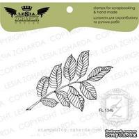 Акриловый штамп Lesia Zgharda FL134b Веточка с листьями меньше