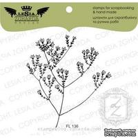 Акриловый штамп Lesia Zgharda FL136 Веточка травы с цветком