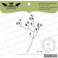 Акриловый штамп Lesia Zgharda FL138 Веточка травы с цветочками