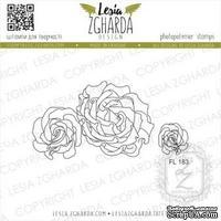 Набор акриловых штампов Lesia Zgharda Солодкі троянди FL183, 2 шт