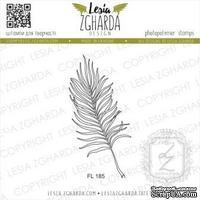 Акриловый штамп Lesia Zgharda Пальмовий листочок - контур FL185, 3,1*6,2см